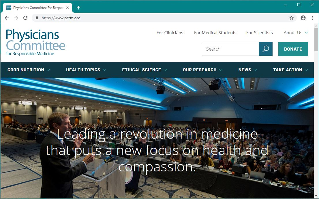 Physicians Committee for Responsible Medicine (Website)